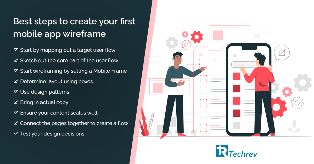 Best steps to create your first mobile app wireframe